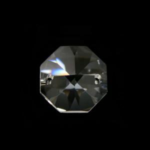 Ottagono 20 mm cristallo sfaccettato due fori -Asfour 1080-
