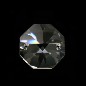 Ottagono 24 mm cristallo sfaccettato due fori -Asfour 1080-