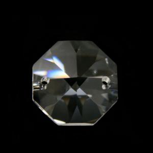 Ottagono 26 mm cristallo sfaccettato due fori -Asfour 1080-