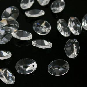 Ovalino a due fori 20 mm - Cristallo Vetro molato