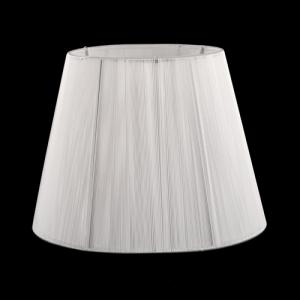 Paralume tronco cono Ø22 x Ø14 x h16 cm - fili di tessuto bianco - attacco E14