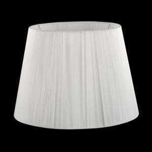 Paralume tronco cono Ø35 x Ø25 x h25 cm - fili di tessuto bianco - attacco E27