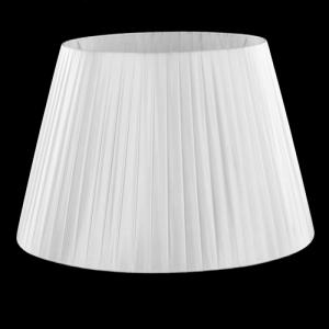 Paralume tronco cono Ø45 x Ø30 x h30 cm - cotonette plissè bianco - attacco E27