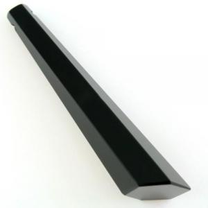 Pendaglio prisma 76 mm asimmetrico in cristallo sfaccettato color nero