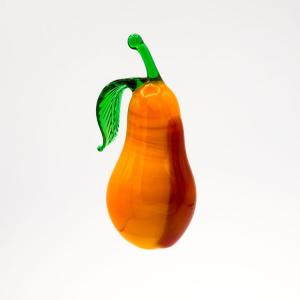 Pendente pera frutto in vetro di Murano a lume