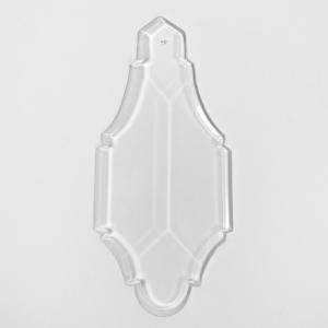 Pendente placca 180 mm in cristallo di Boemia originale per lampadari antichi vintage