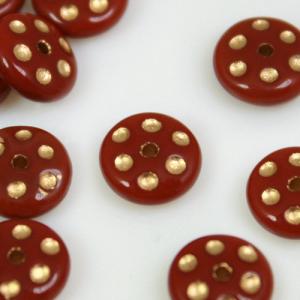 Perle tonde in pasta di vetro marrone e oro, 8 mm