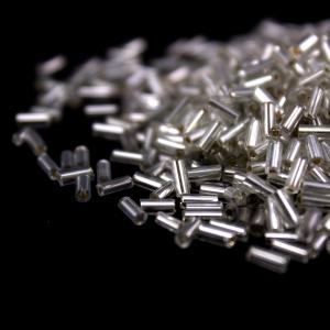 Perline di conteria a cannetta argento 5 mm