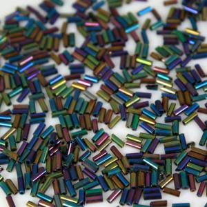 Perline di conteria cannette policrome vetro di Murano