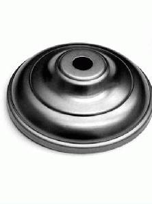 Piattino bobeche per lampadari in ferro grezzo Ø82x26 mm con foro centrale