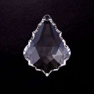 Placca Spectra altezza 38 mm, color cristallo.