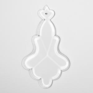Placca taglio classico 125 mm cristallo puro Boemia. Per restauri lampadari Maria Teresa