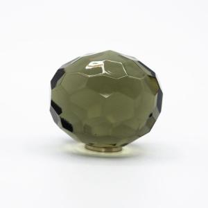 Pomello cristallo Bohemia Ø40 colore grigio attacco M4 maschio nickel