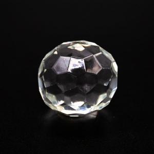 Pomello cristallo Bohemia Ø40 mm colore puro attacco M4 maschio nickel