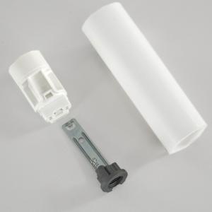 Portalampada E14 bianco liscio 85 mm completo con nippel - staffa e anima
