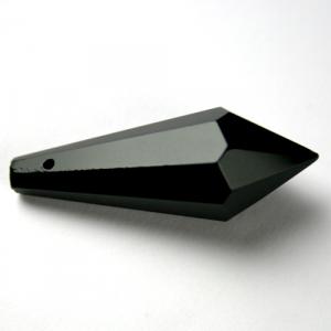 Prisma pendente 38 mm nero lucido, vetro cristallo sfaccettato molato
