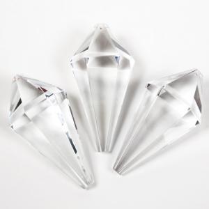 Prisma sfaccettato a cono 90 mm cristallo di Boemia. Cristallo forma prismatica colore puro