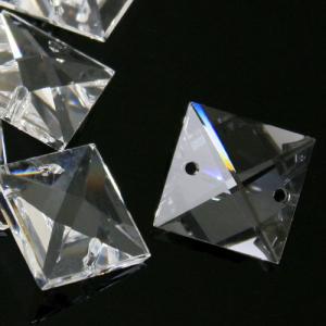 Quadruccio 24 mm cristallo sfaccettato due fori -Asfour 2020- per lampadari