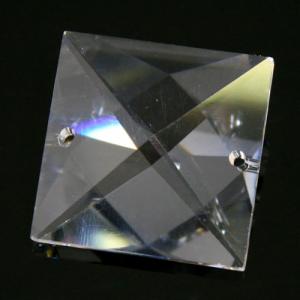 Quadruccio 28 mm cristallo sfaccettato due fori -Asfour 2020- per lampadari