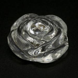 Ricambio per lampadario finale rosetta in vetro pieno con vite femmina