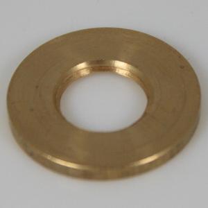 Rondella piana filettata, foro 1/4 gas ottone grezzo, diametro esterno Ø 25x3 mm