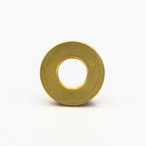 Rondella piana filettata, foro M10x1 ottone grezzo, diametro esterno Ø 20x2 mm