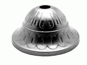Rosone copri cavi lavorato per lampadari in ferro grezzo, Ø 80, h. 40 mm con foro centrale 12 mm.
