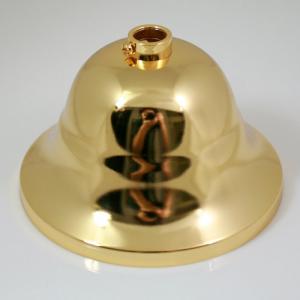 Rosone copri cavi per lampadari, metallo finitura oro, Ø 9 cm, con collarino.