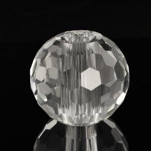 Sfera di cristallo molato e sfaccettato colore puro Ø50 mm h45 mm foro Ø13 mm passante