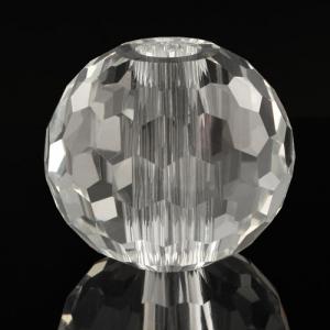 Sfera in cristallo molato e sfaccettato colore puro Ø60 mm h53 mm foro Ø13 mm passante