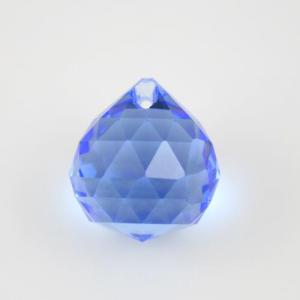 Sfera sfaccettata 20 mm vetro molato blu zaffiro
