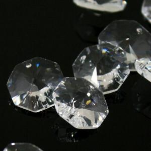 Spectra Swarovski - Cristallo ottagono doppio foro, Trasparente 18 mm.