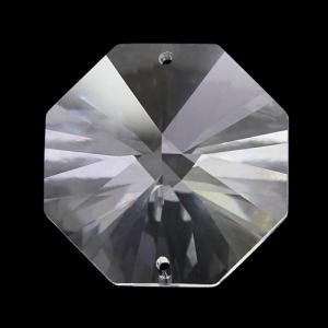Spectra Swarovski - Cristallo ottagono doppio foro, Trasparente 26 mm.