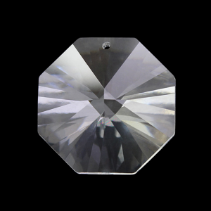 Spectra Swarovski - Cristallo ottagono foro singolo, Trasparente 14 mm.