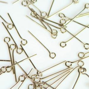 Spillo ad occhiello 20 mm nickelato spessore 0,7 mm