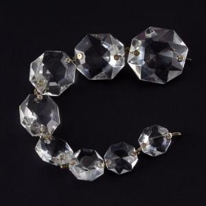 Strenna pendente ottagoni cristallo Boemia in gradazione. Lunghezza 20 cm.
