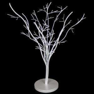 Struttura metallica h 75 cm sagomata ad albero, color bianco perla.