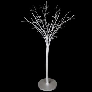 Struttura metallica, color bianco perla, sagomata ad albero con circa 16 rami e 179 fori, altezza 1300 mm