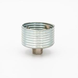 Supporto zincato x portalampada G9 filettato esterno Ø28 x h16 mm + nipple inferiore M10x1 h7 mm
