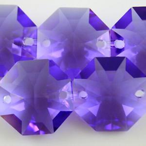 Swarovski - Cristallo ottagono doppio foro Blue Violet 14 mm - 8116 -