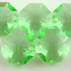 Swarovski - Cristallo ottagono doppio foro Light Peridot 14 mm - 8116 -