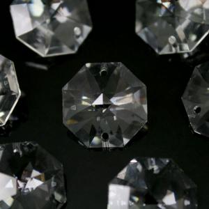 Swarovski - Cristallo ottagono doppio foro Trasparente 18 mm - 8116 -