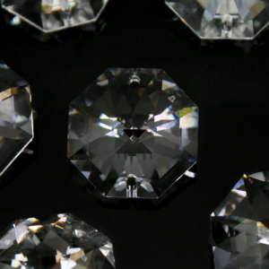 Swarovski - Cristallo ottagono doppio foro Trasparente 22 mm - 8116 -