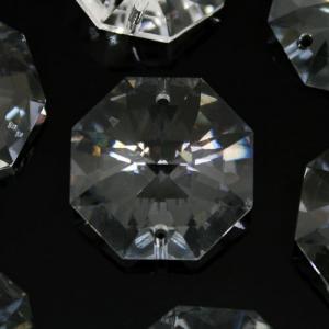 Swarovski - Cristallo ottagono doppio foro Trasparente 24 mm - 8116 -