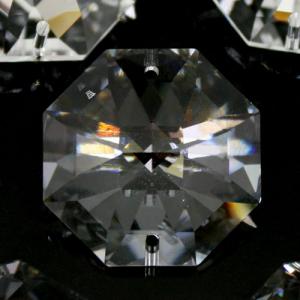Swarovski - Cristallo ottagono doppio foro Trasparente 28 mm - 8116 -