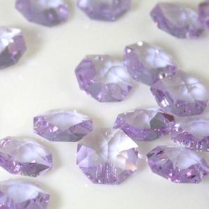 Swarovski - Cristallo ottagono foro singolo Violet 14 mm - 8115 -