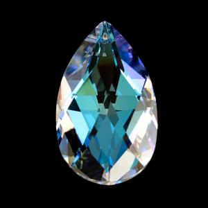 Swarovski pendente mandorla sfaccettata, taglio classico cristallo Aurora Boreale 38 mm - 8721 -