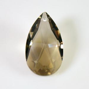 Swarovski pendente mandorla sfaccettata, taglio classico cristallo Golden Teak 28 mm - 8721 -
