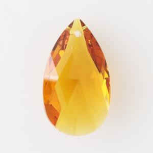 Swarovski pendente mandorla sfaccettata, taglio classico cristallo Topaz 28 mm - 8721 -