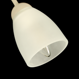Tazza campana paralume ricambio lampadario vetro cristallo satinato liscio. Foro Ø30 mm